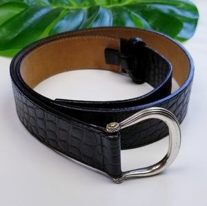 Talbots Genuine Leather Pebbled Belt